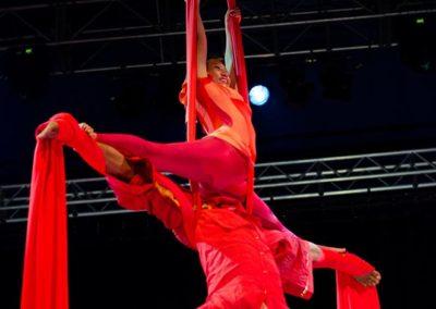 Aerial silks solo Circus Kathmandu